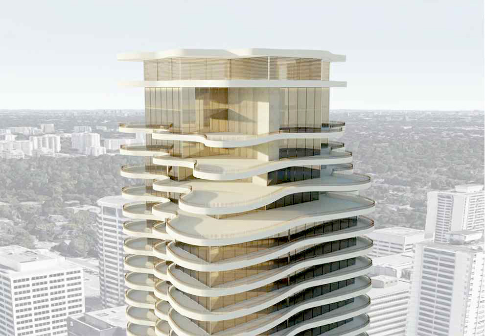 Exterior Rendering of Yonge + St. Clair Condos