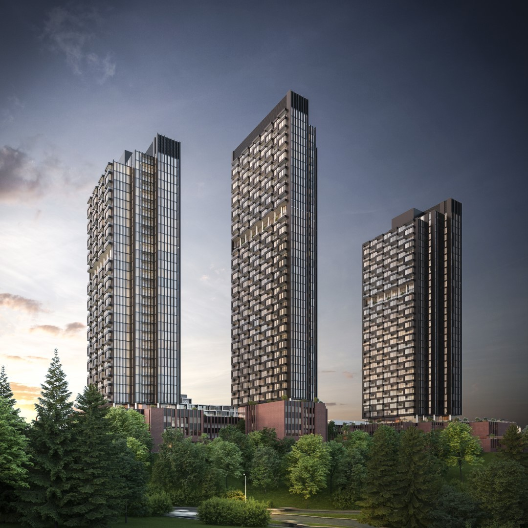 Rendering of Crosstown Community Condo Towers