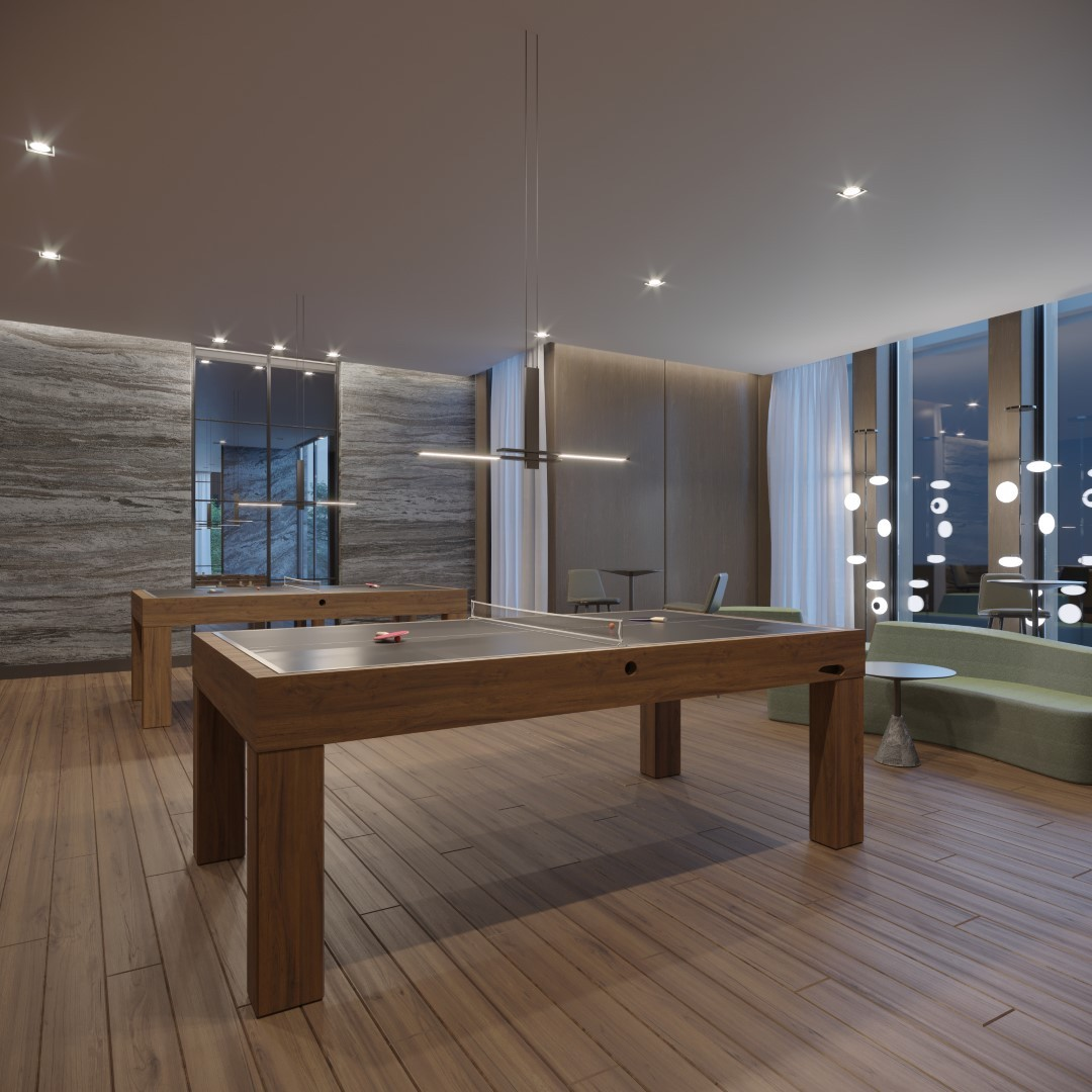 Rendering of Crosstown Condos Ping Pong Table