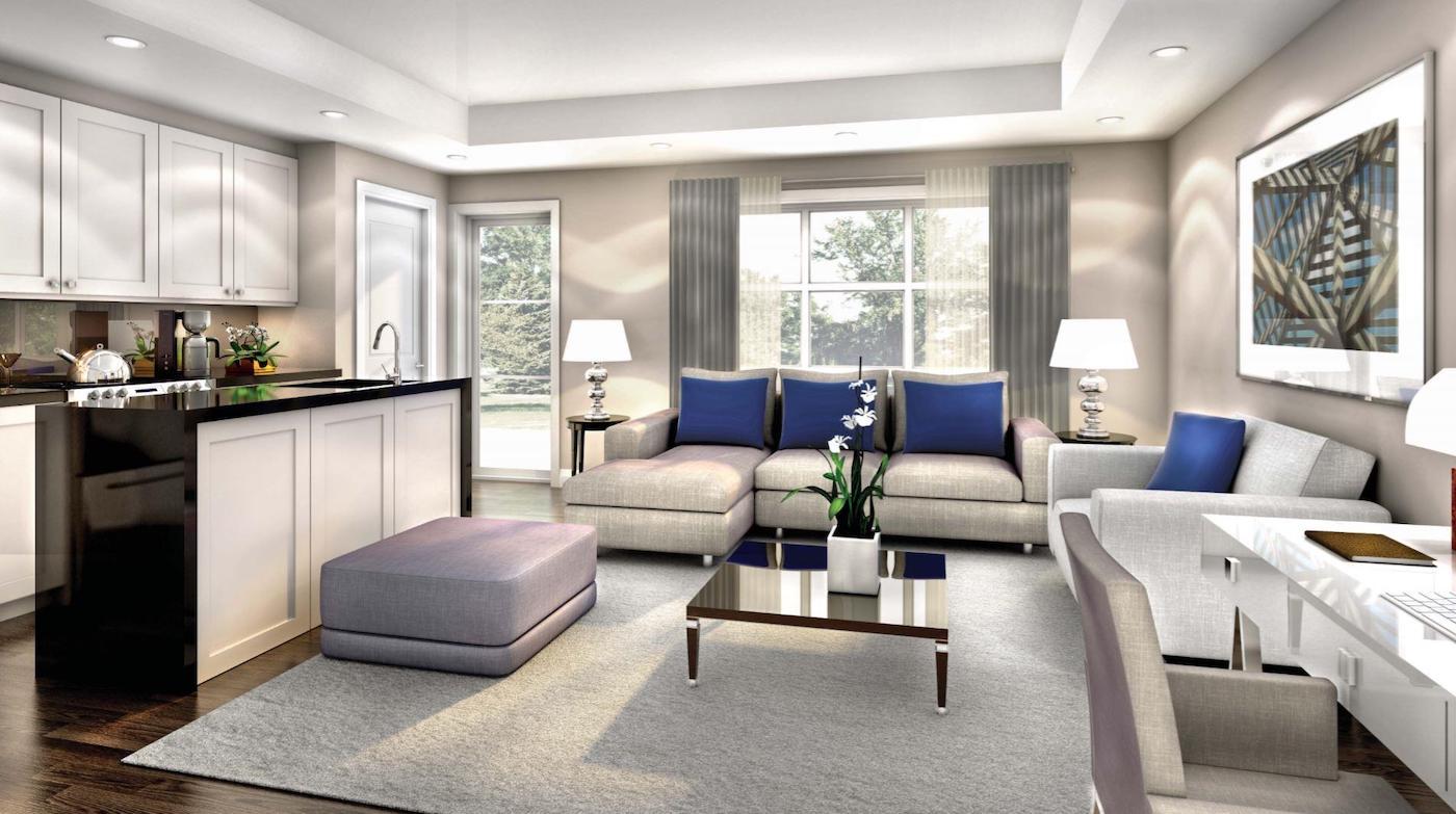 Interior Rendering of Meadowvale Lane Home Living Room