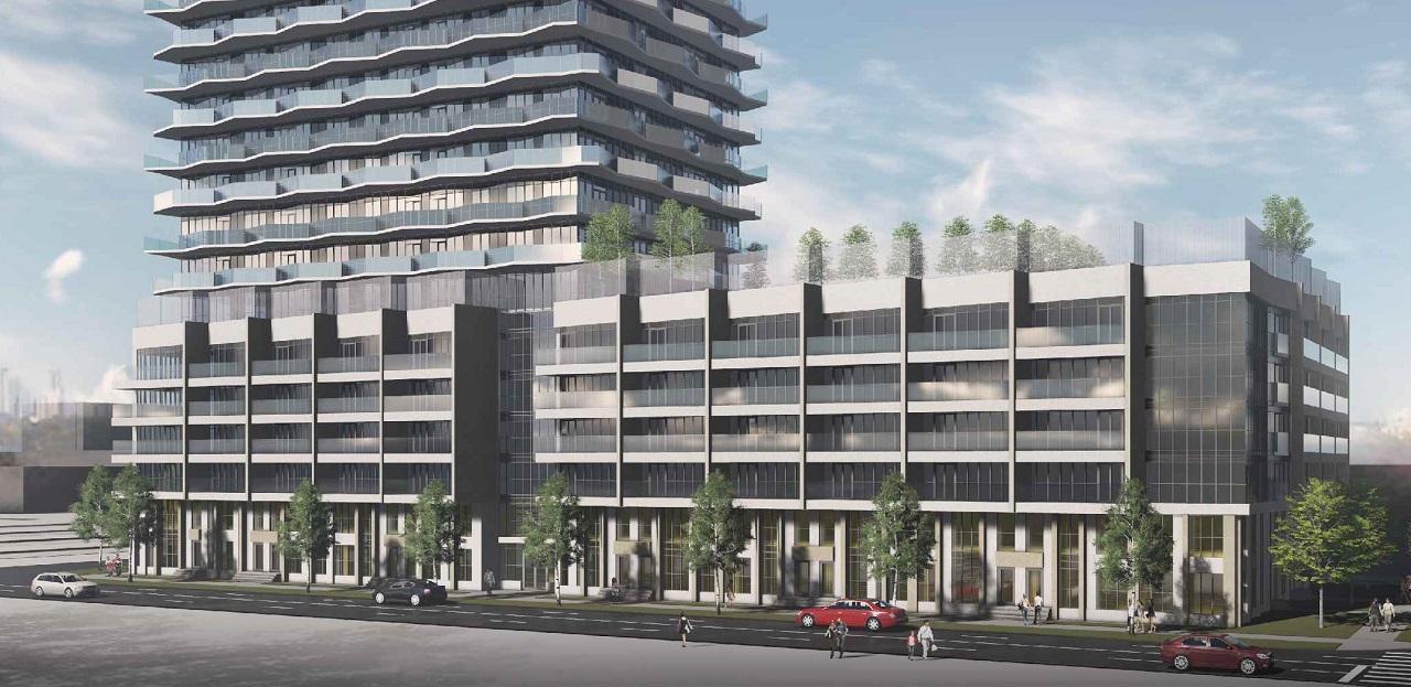 Street-View Rendering of Thirty Six Zorra Condos
