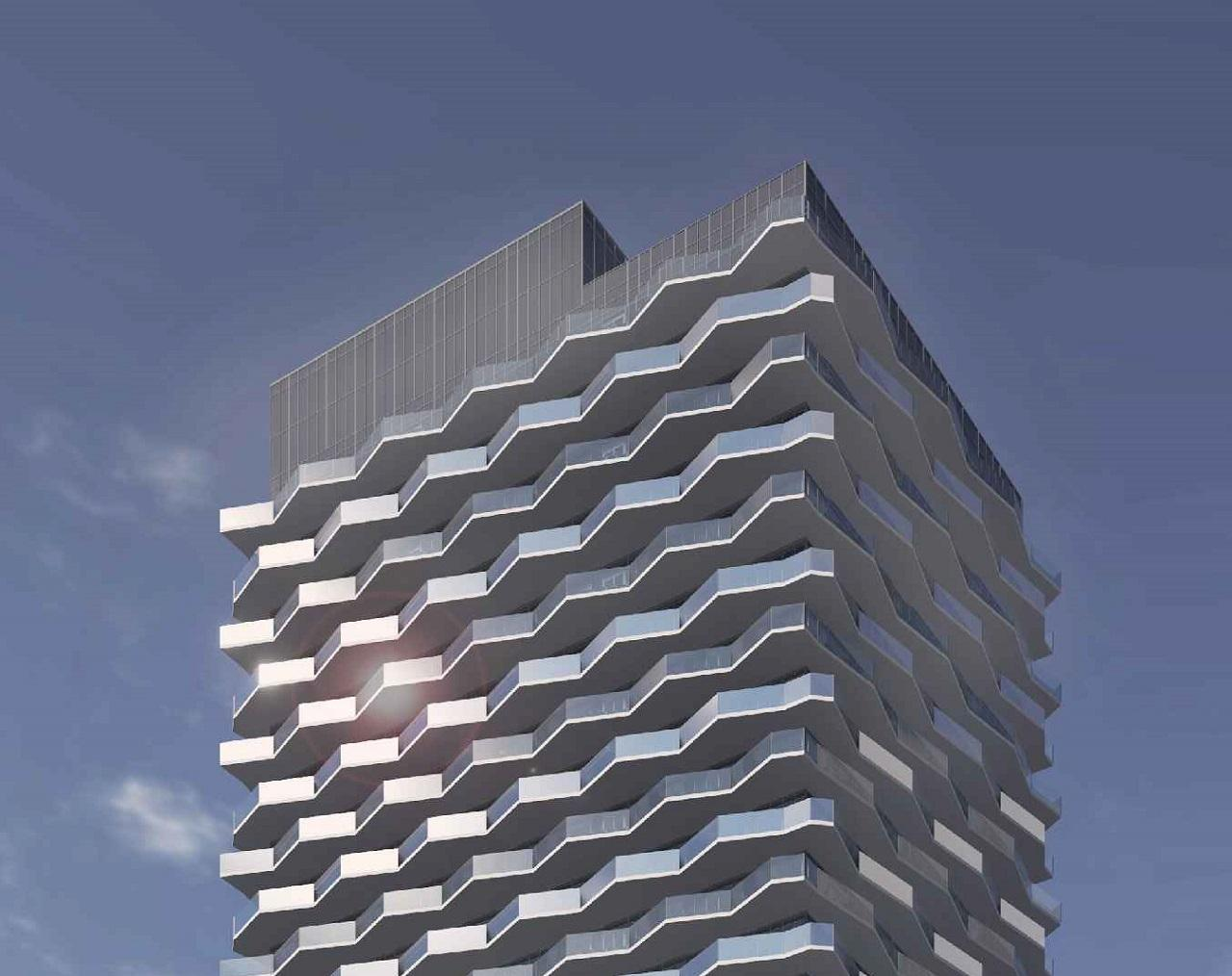 Building Top Rendering of Thirty Six Zorra Condos