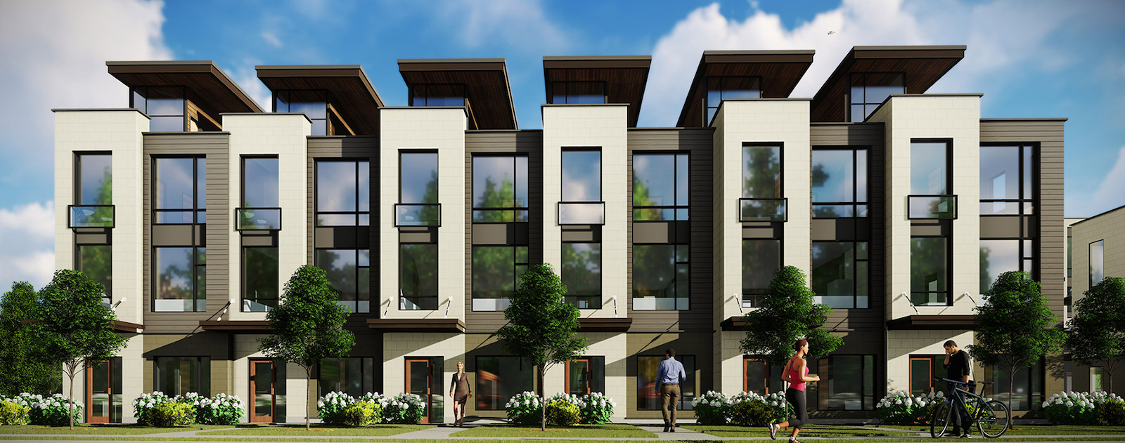Exterior Rendering of Tuxedo Park Boutique Towns