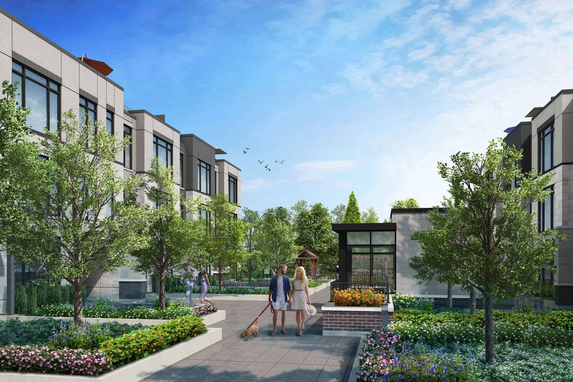Rendering of 11 Altamont Towns courtyard.