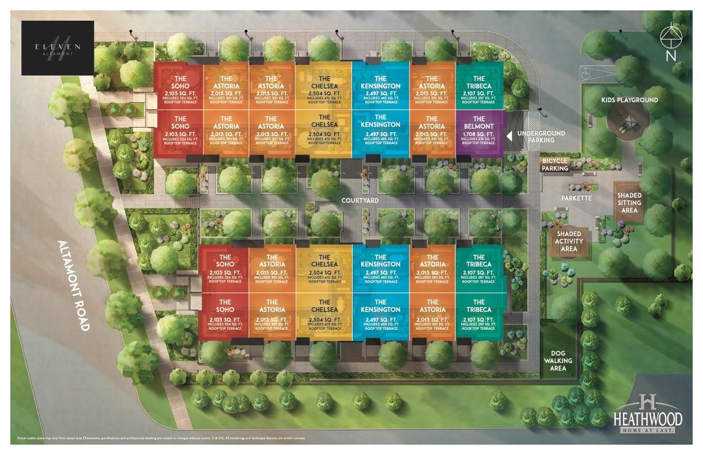 Eleven Altamont Towns Siteplan