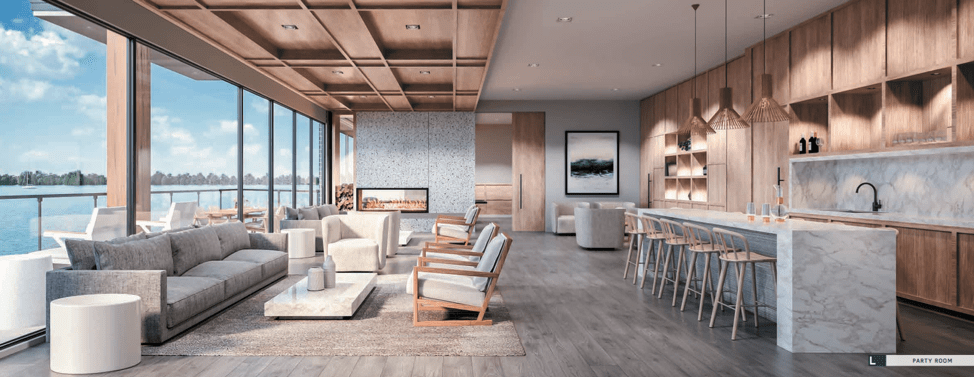 Rendering of Lākhouse Condos Party Room