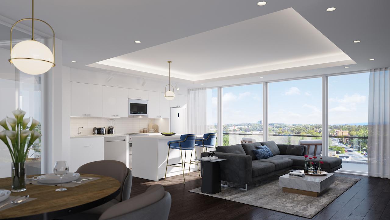 Rendering of The Manderley Condos interior suite.