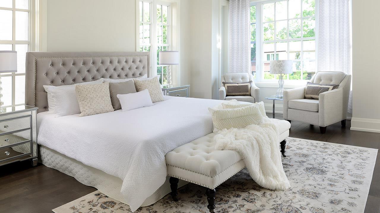 Bedroom rendering for Elmwood Homes.