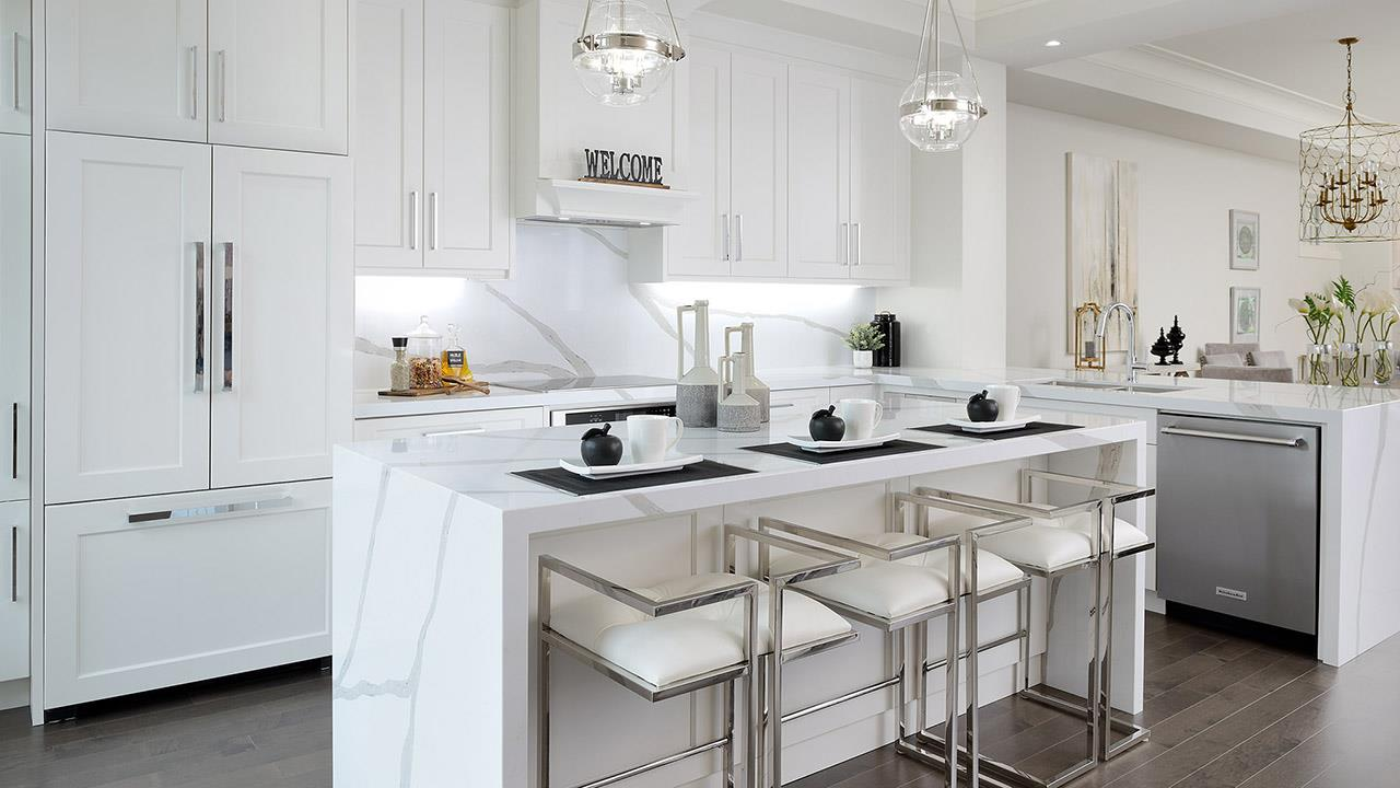 Kitchen rendering for Elmwood Homes.