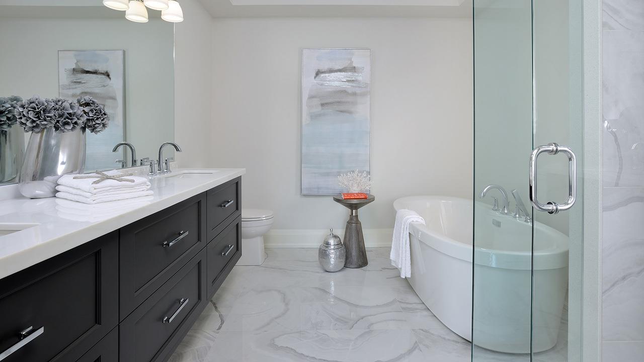 Bathroom rendering for Elmwood Homes.