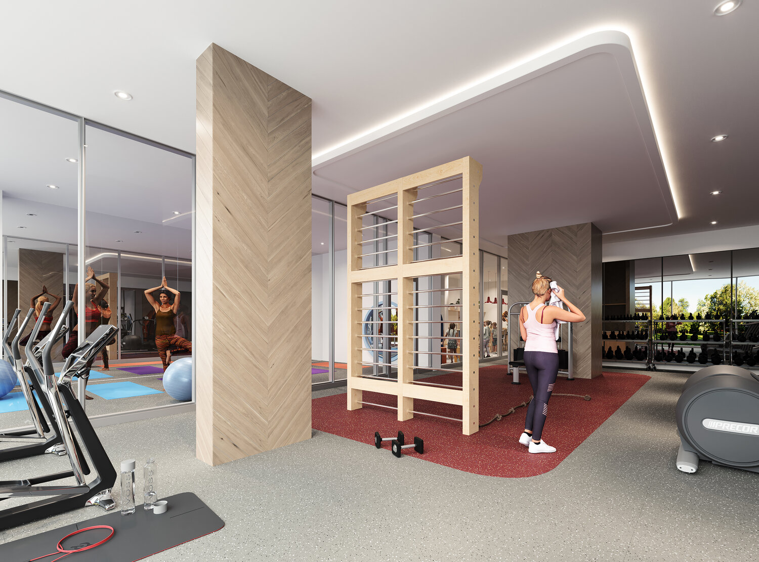 Rendering of Reina Condos gym