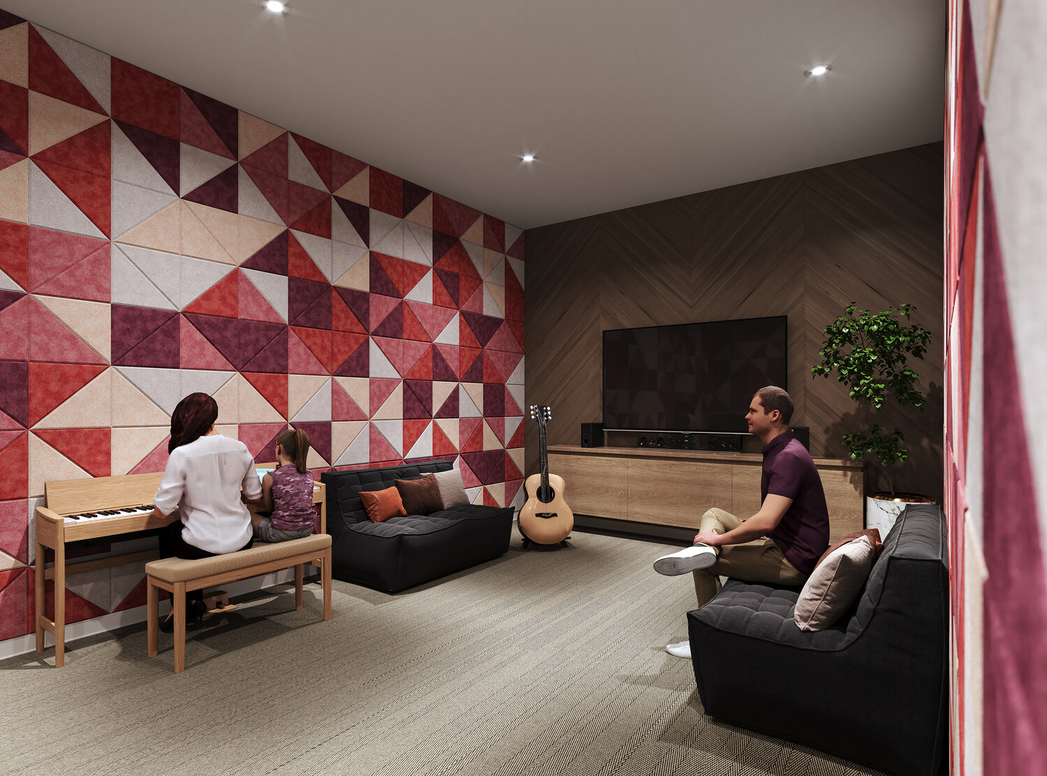 Rendering of Reina Condos soundless room