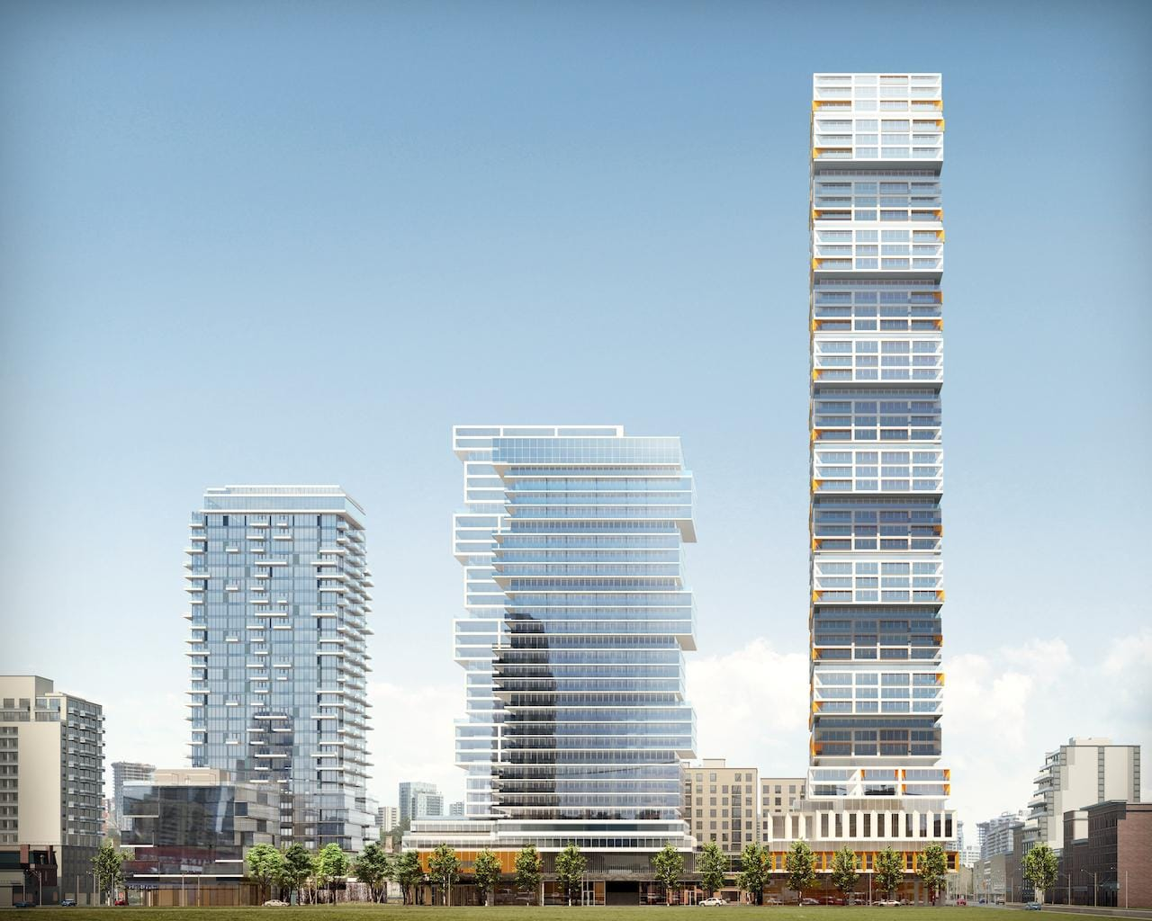 Rendering of 88 East and 88 West Condos multi-tower community.