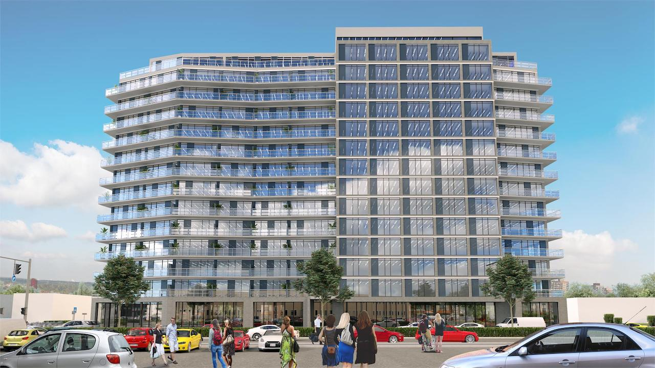 Exterior rendering of LJM Tower Condos.