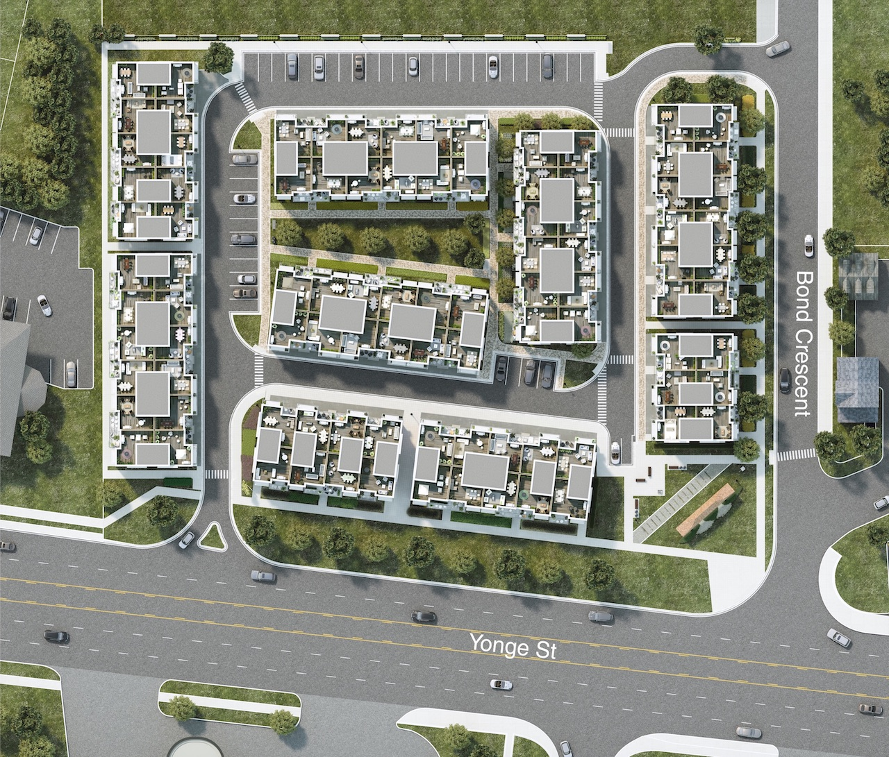 Sitemap of The Bond Towns in Richmond Hill.