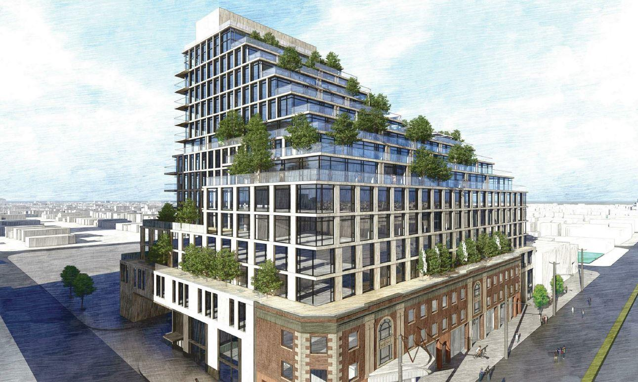 Sketch of the Exterior of 2500 Yonge Street Condos