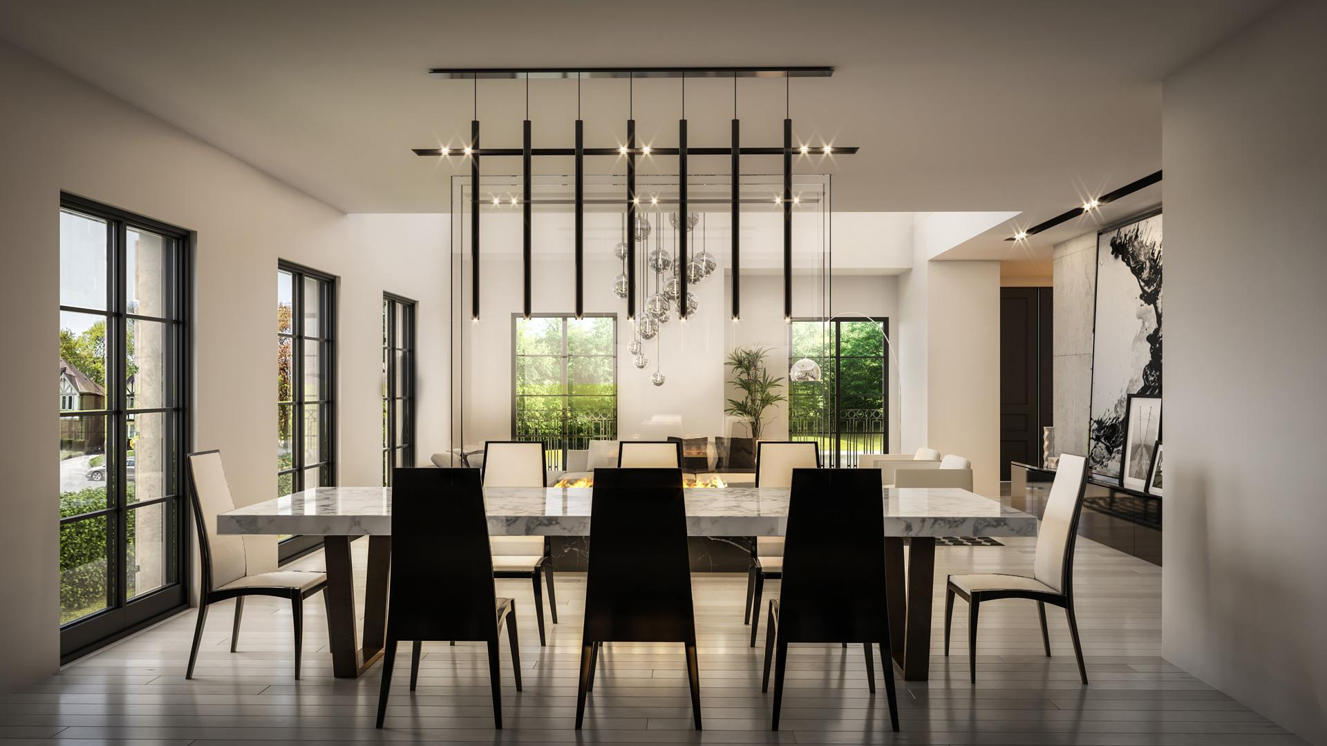 Rendering of 469 Spadina Homes interior dining room.