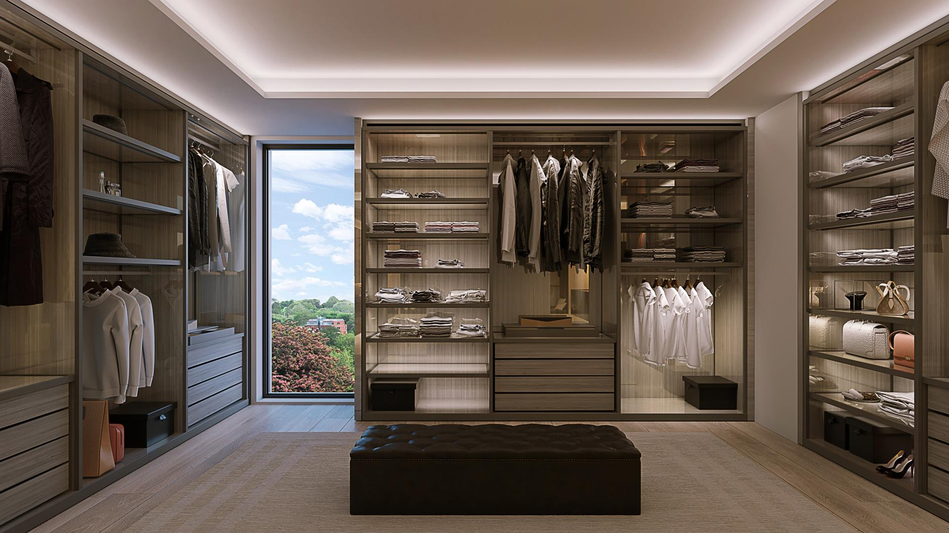 Rendering of 469 Spadina Homes interior walk-in closet.