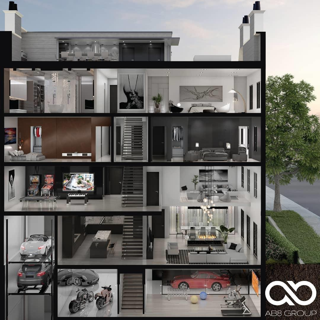 Rendering of 469 Spadina Homes interior layout.
