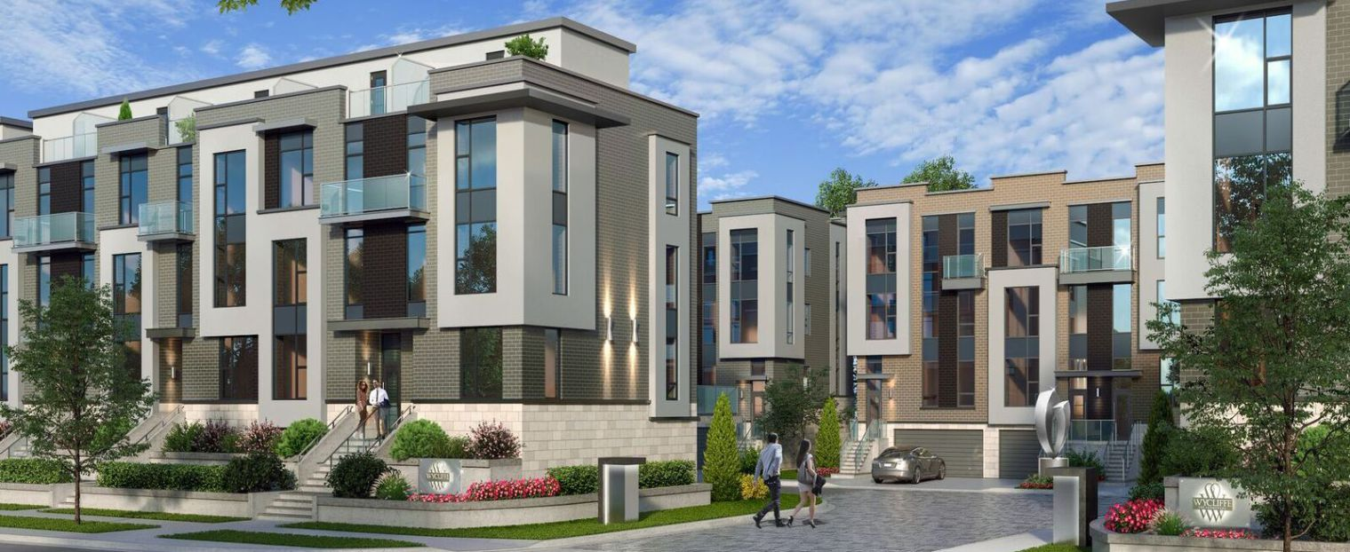 Exterior rendering of the Wycliffe Promenade Towns entrance from street.