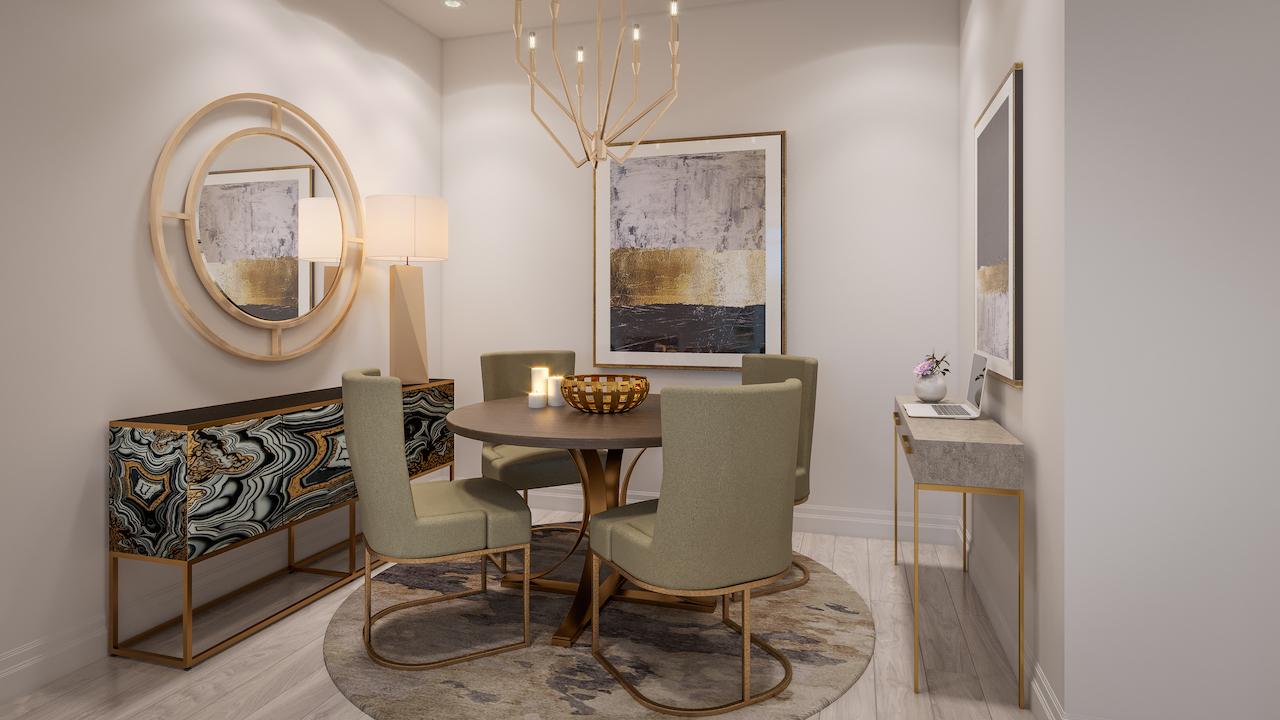 ORO Condos Suite Dining Room