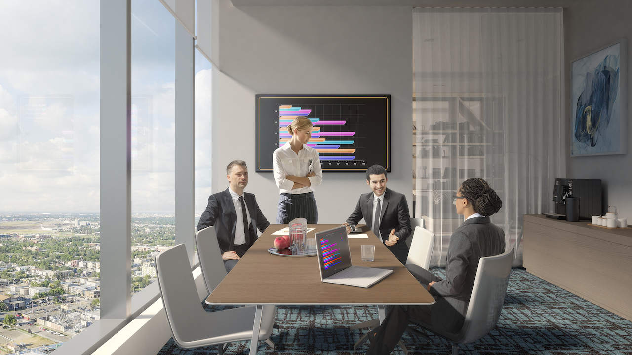 Rendering of SKY Residences at ICE District Boardroom.