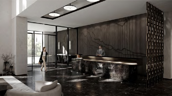 Rendering of The Forest Hill Private Residences concierge.