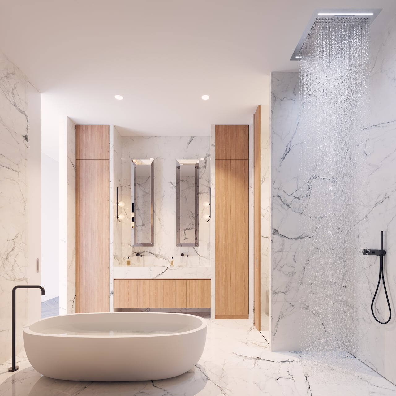 Rendering of One Delisle Penthouse interior ensuite