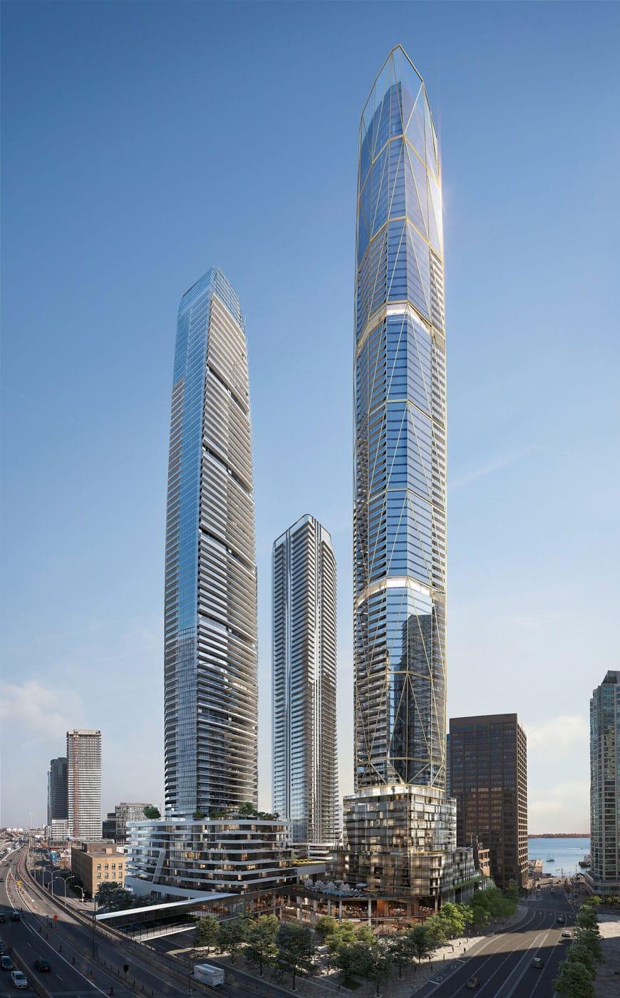 Rendering of One Yonge SkyTower full building exterior.