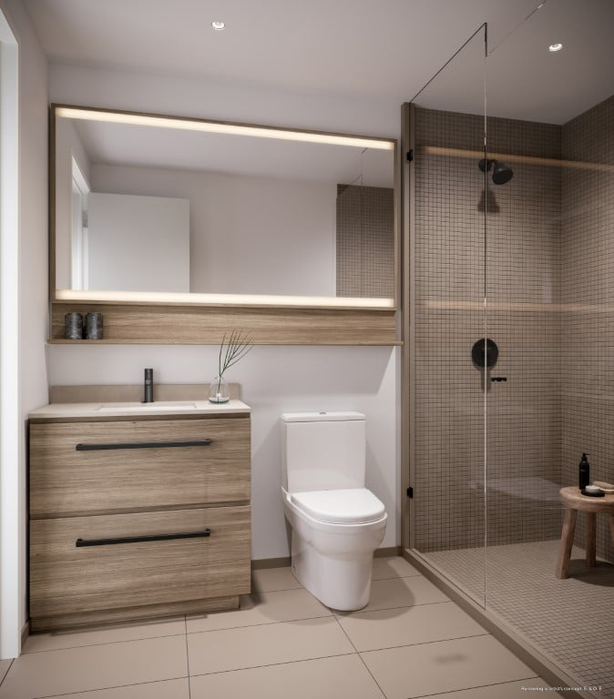 Rendering of Canary House Condos suite interior bathroom