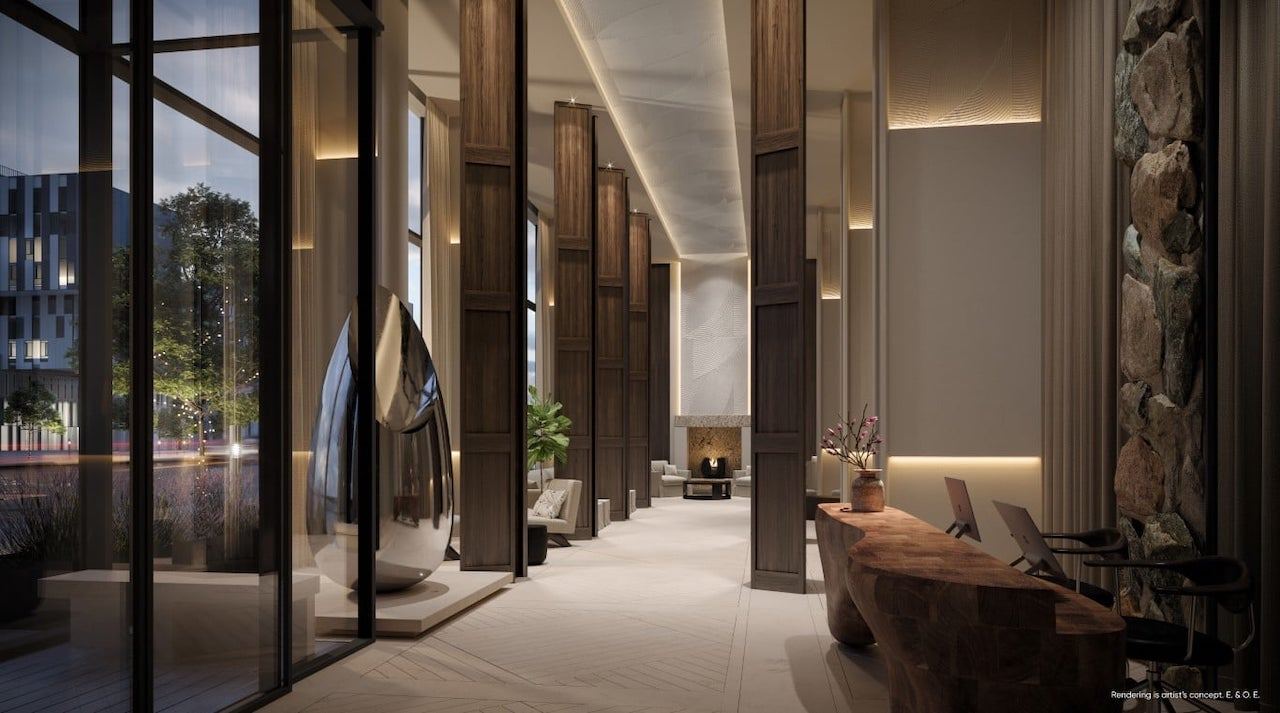 Rendering of Canary House Condos lobby