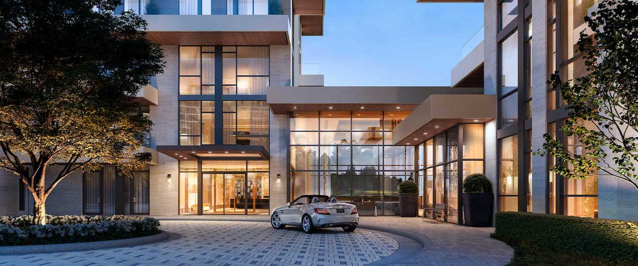 Rendering of Royal Bayview Condos entrance.