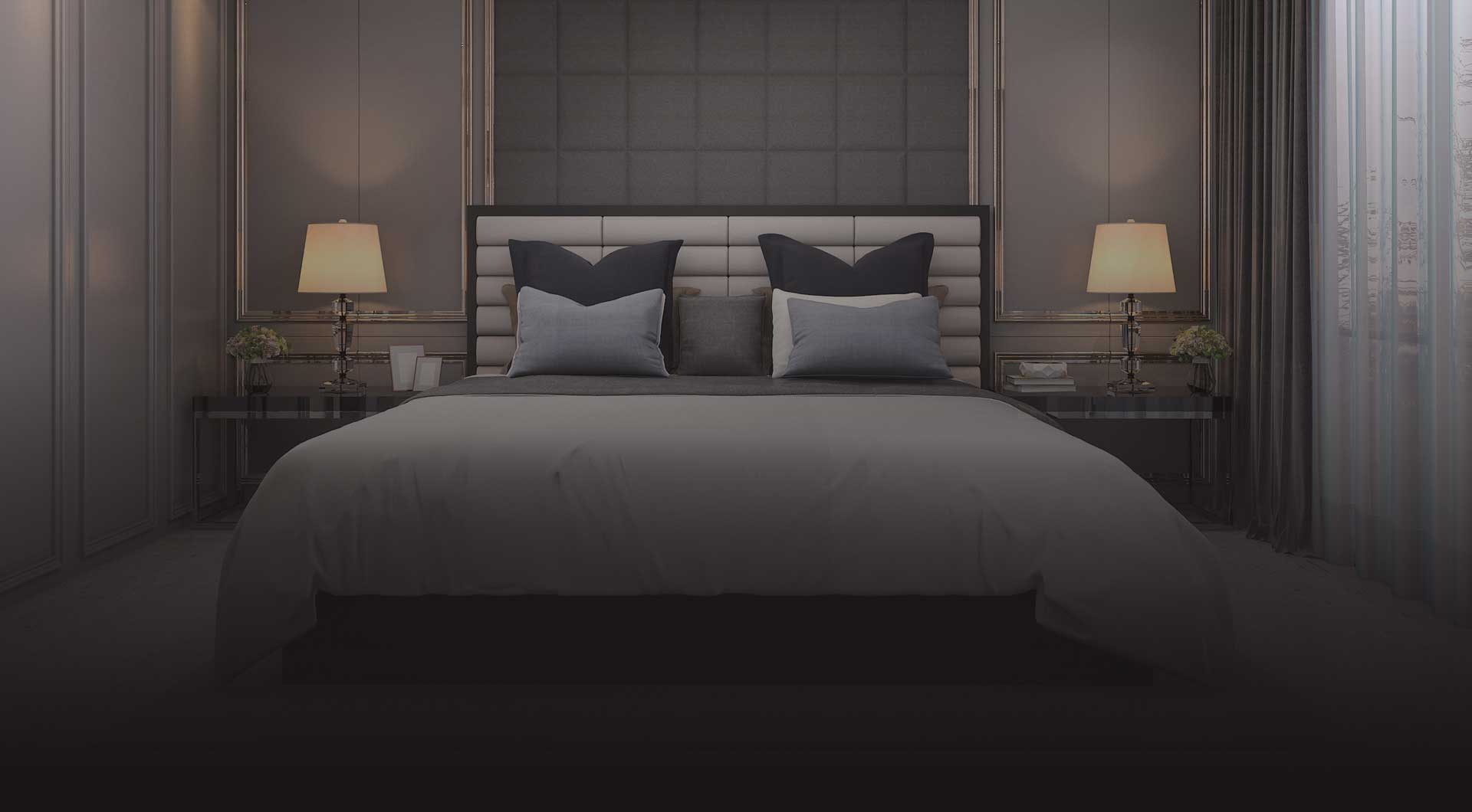 Rendering of The Howard High Park interior bedroom.