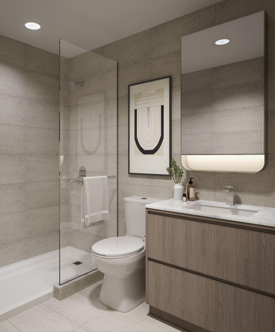 Rendering of 8188 Yonge Condos suite interior bathroom.
