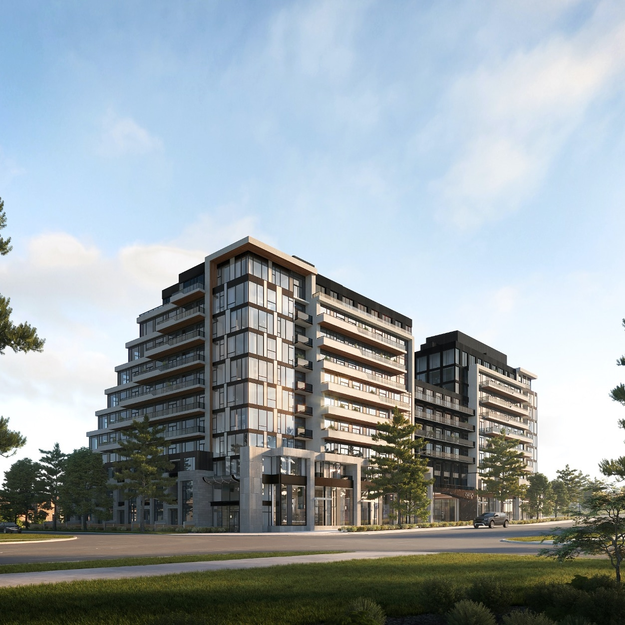 Exterior rendering of 8188 Yonge Condos in Vaughan