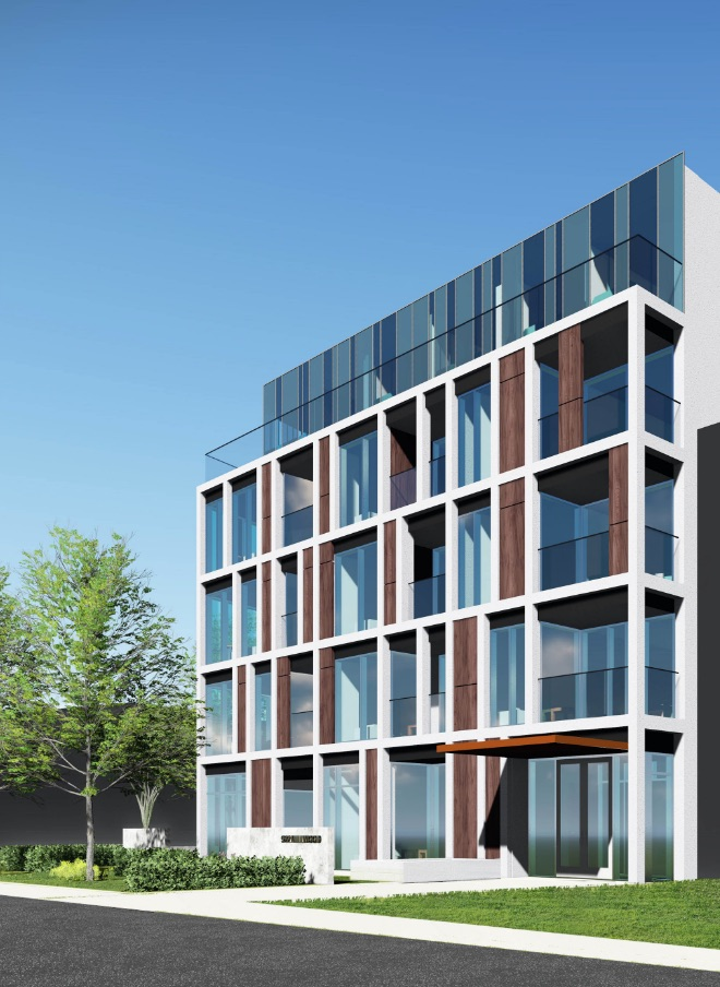 Rendering of 922 Millwood Road Condos facing North-West.