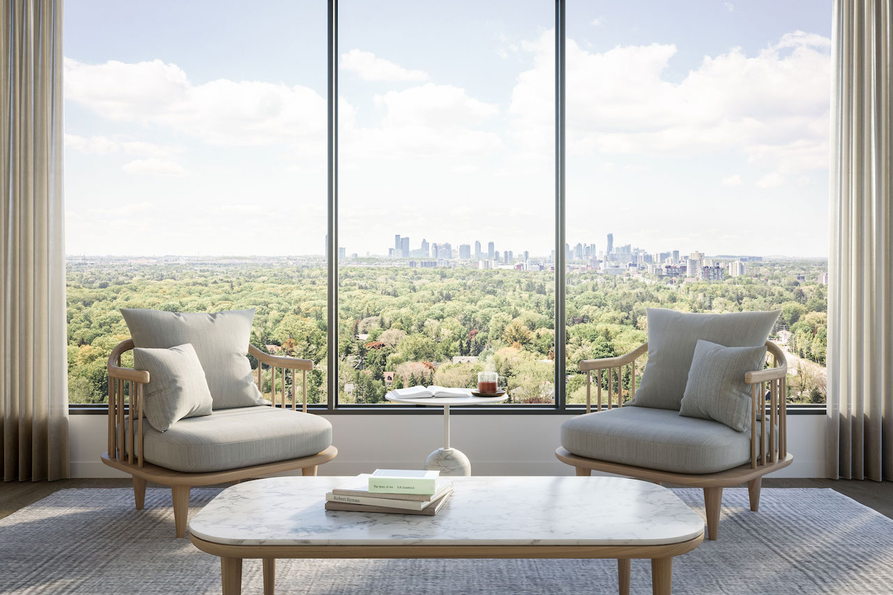 Rendering of Westport Condos view.