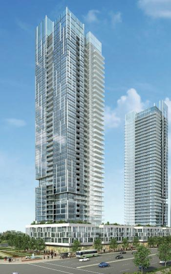 Rendering of Highway 7 & Jane Condos in Vaughan.