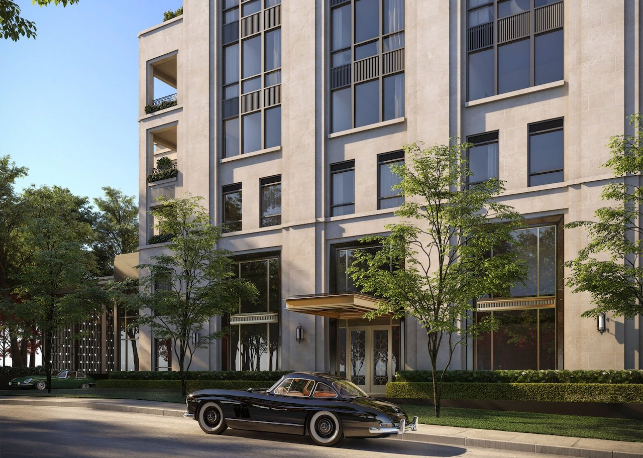 Entrance rendering of One Forest Hill Condos.