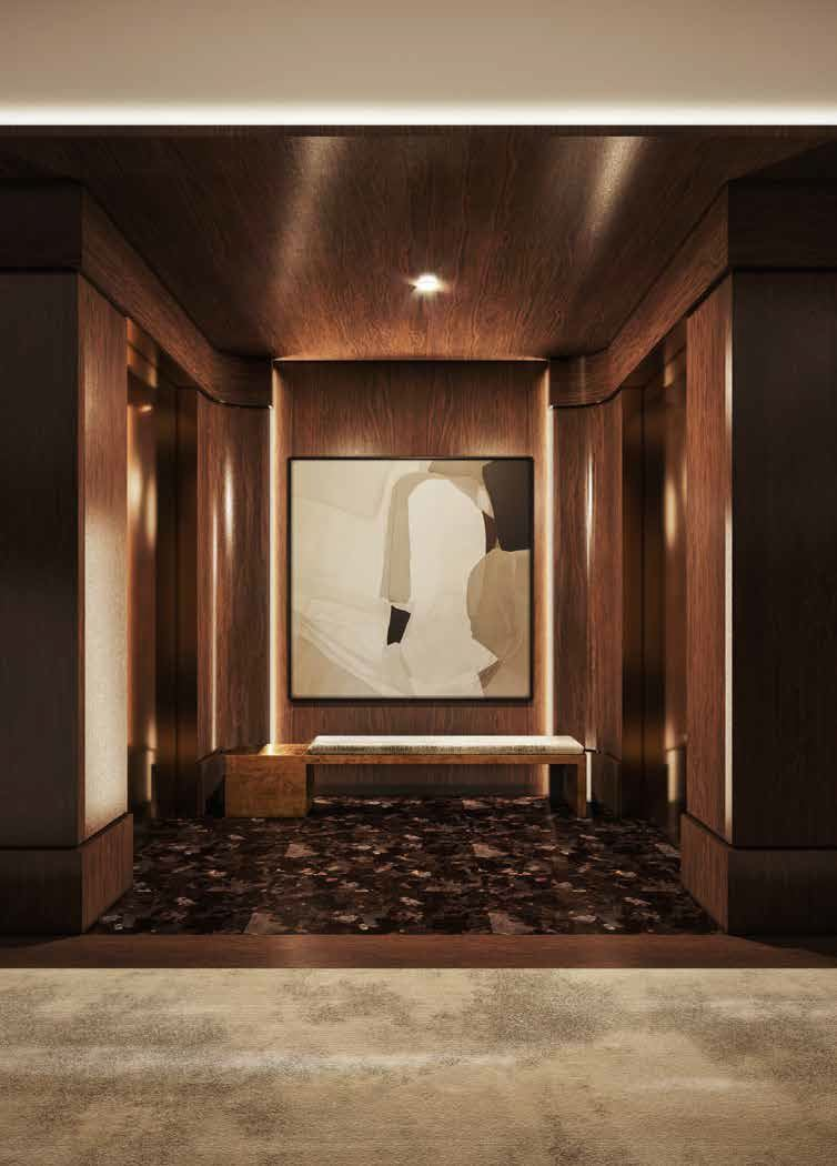 Rendering of No. 7 Rosedale Condos elevators.