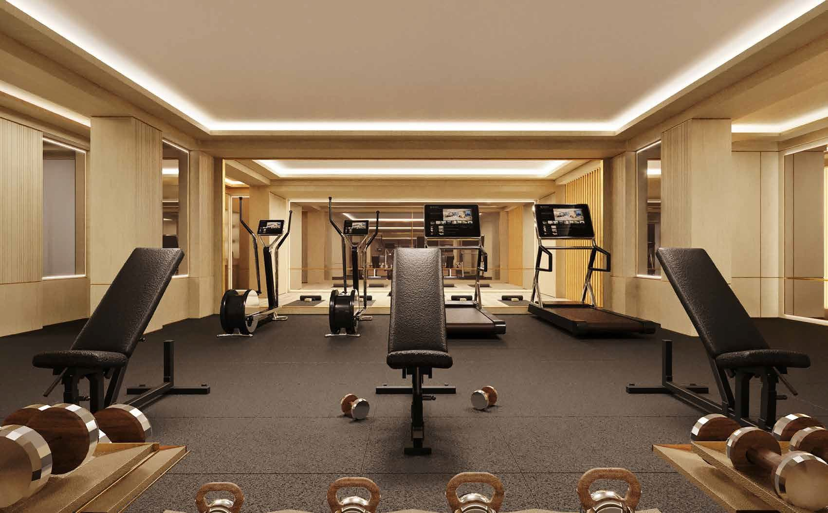 Rendering of No. 7 Rosedale Condos fitness centre.