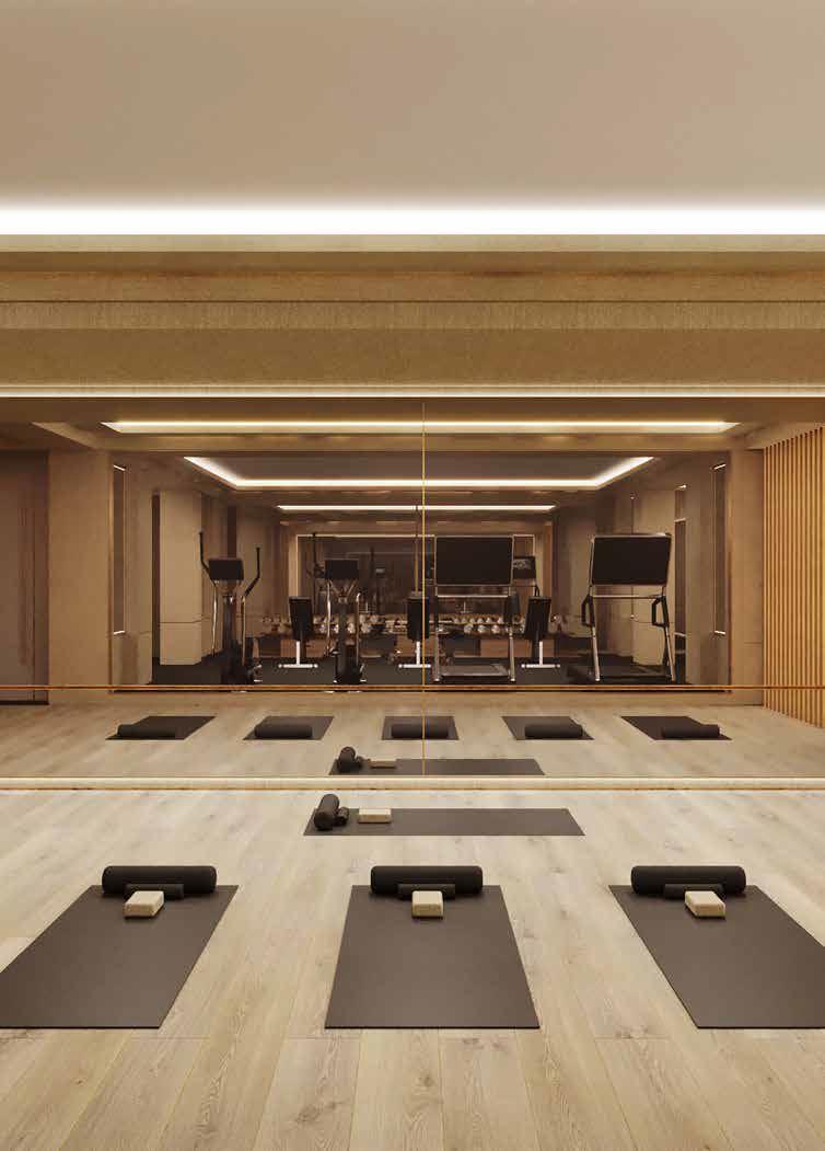 Rendering of No. 7 Rosedale Condos yoga studio.