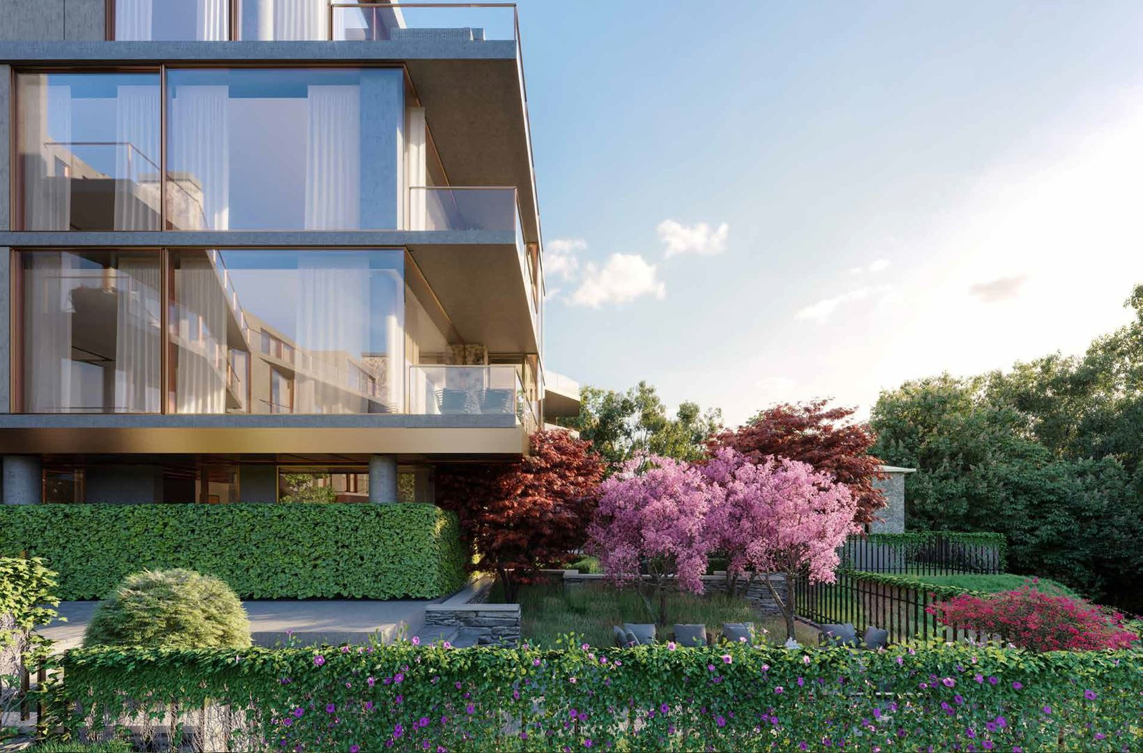 Rendering of No. 7 Rosedale Condos exterior side view.