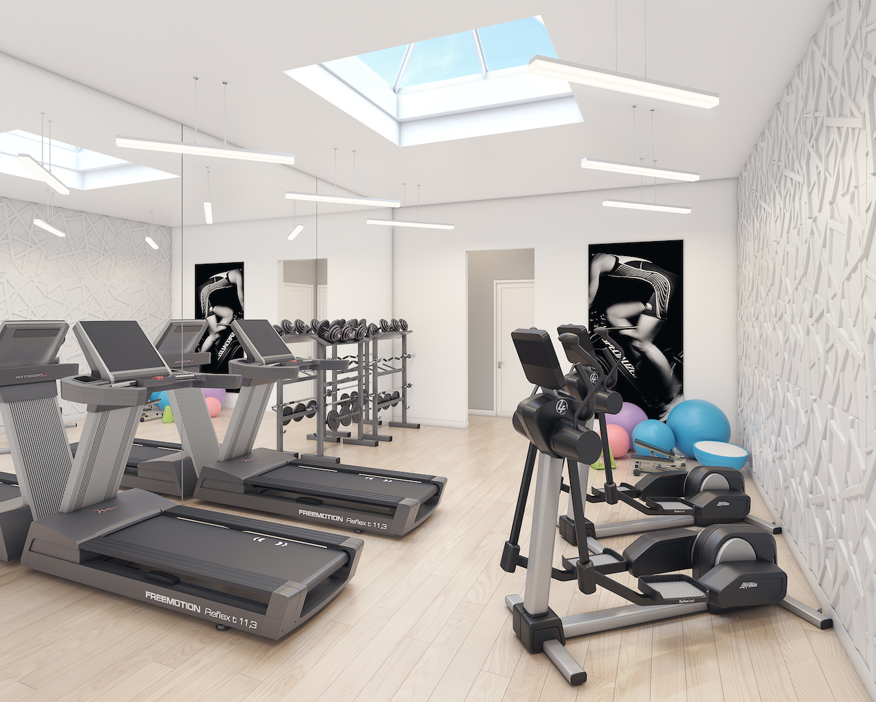 Rendering of Amsterdam Urban Towns O'Connor Drive interior gym.