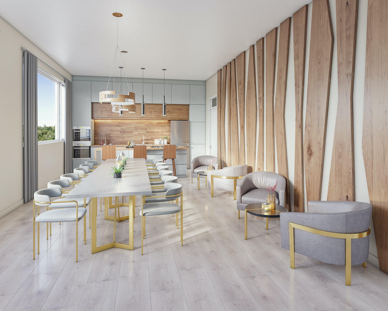 Rendering of Amsterdam Urban Towns O'Connor Drive party room.