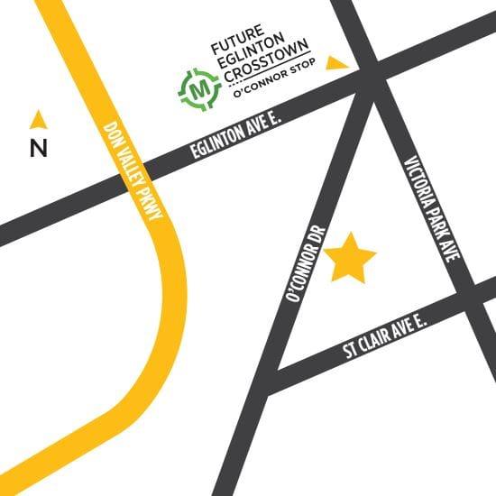 Keymap of Amsterdam Urban Townhomes in Toronto.