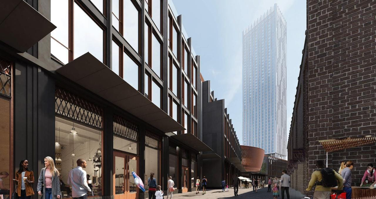 Rendering of 31R Parliament Condos street area with retail.