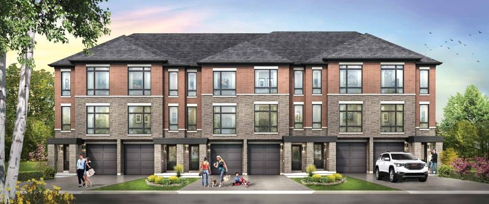 Exterior rendering of Total Towns in Uptown Oshawa.