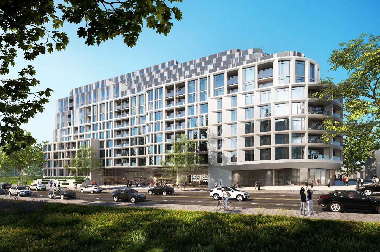 Exterior rendering 3100 Bloor Street West Condos