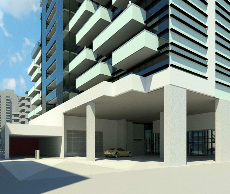 Rendering of 65 Raglan Avenue Condos parking garage access